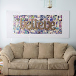 wall size cutout word art for Christmas {believe}