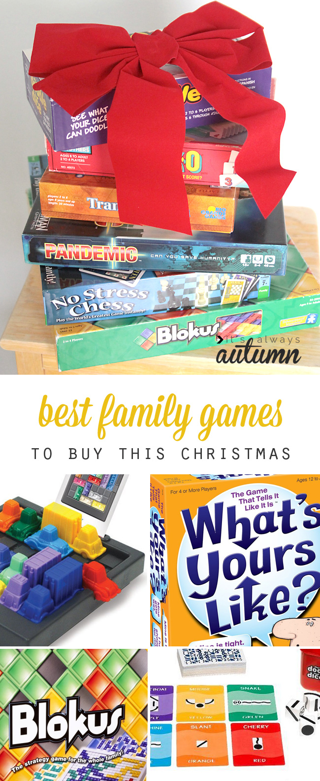 20 best family games to buy this holiday season