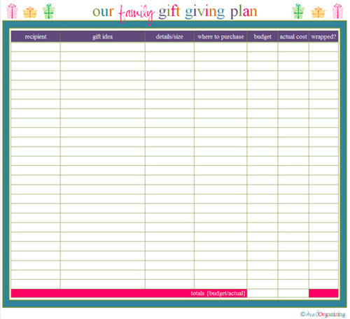 printable holiday shopping planner pages - It's Always Autumn