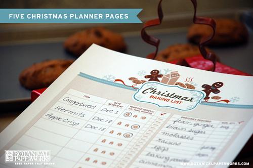 holiday christmas gift planner printable free