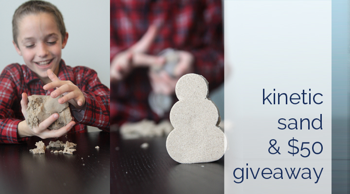 kinetic sand review and $50 giveaway to Uncommon Goods