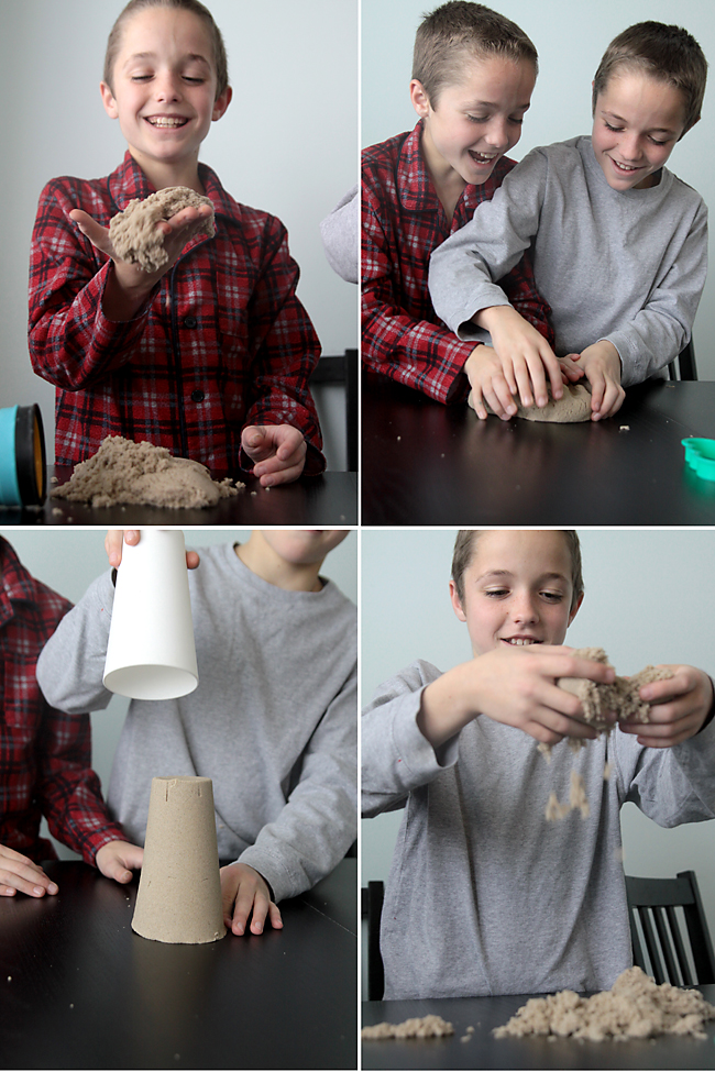 kinetic sand review and giveaway