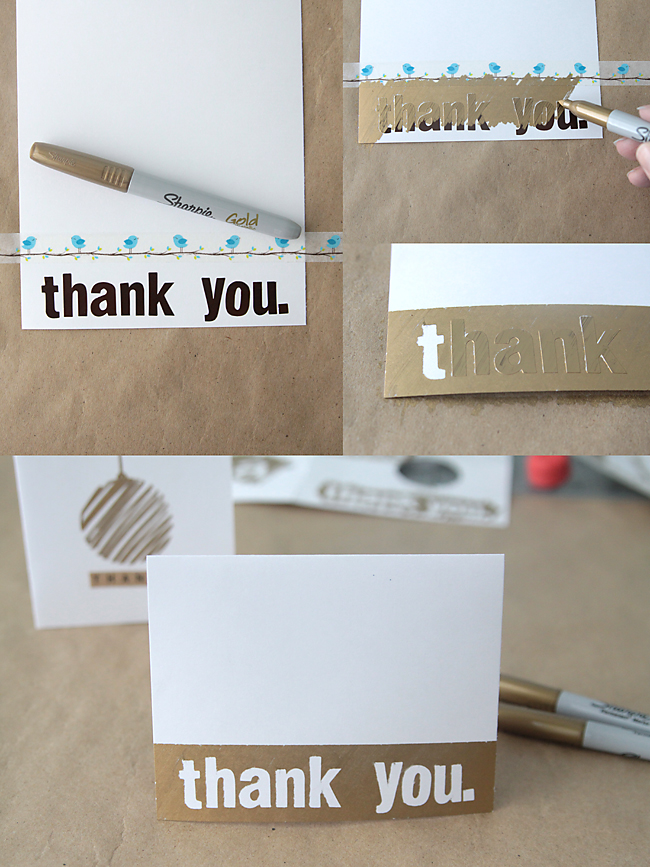 Easy Diy Thank You Cards With Metallic Sharpies It S