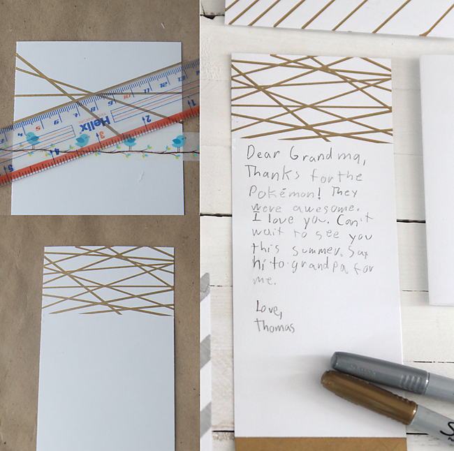 Easy DIY Thank You Cards With Metallic Sharpies Its