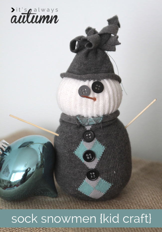 super cute sock snowman