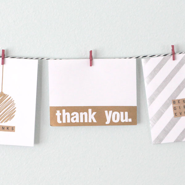 easy DIY thank you cards with metallic Sharpies