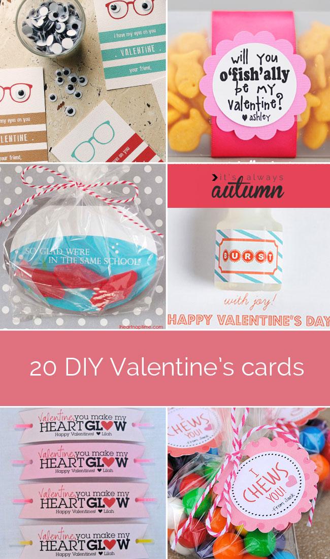 20 fantastic DIY Valentines Day cards Its Always Autumn – Valentine Friendship Cards