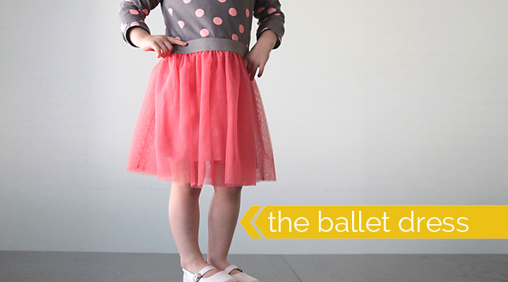 easing sewing tutorial for girls tulle skirt ballet dress