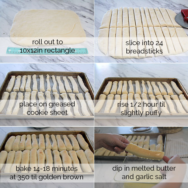 how to make garlic butter breadsticks