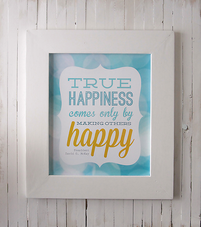 True Happiness Free Lds Quote Printable Its Always Autumn