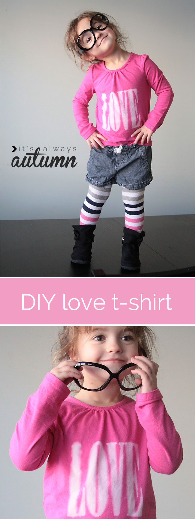 "DIY Valentine's Day ""love"" tee"