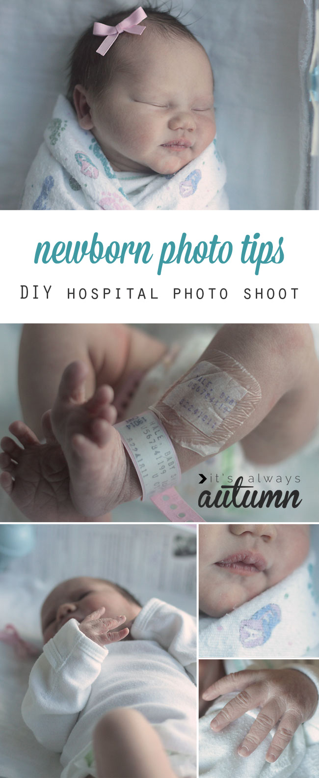 Learn how to take gorgeous photos of your newborn baby in the hospital with these easy
