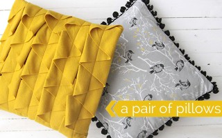 how to make your own modern throw pillows