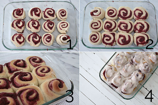 How To Make Raspberry Rolls With Step By Photos