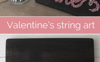 great string art tutorial for Valentine's Day