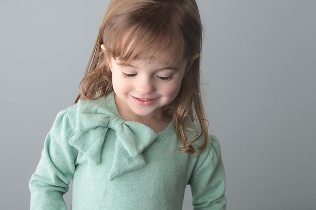 how to sew a girls sweater dress with a cute bow