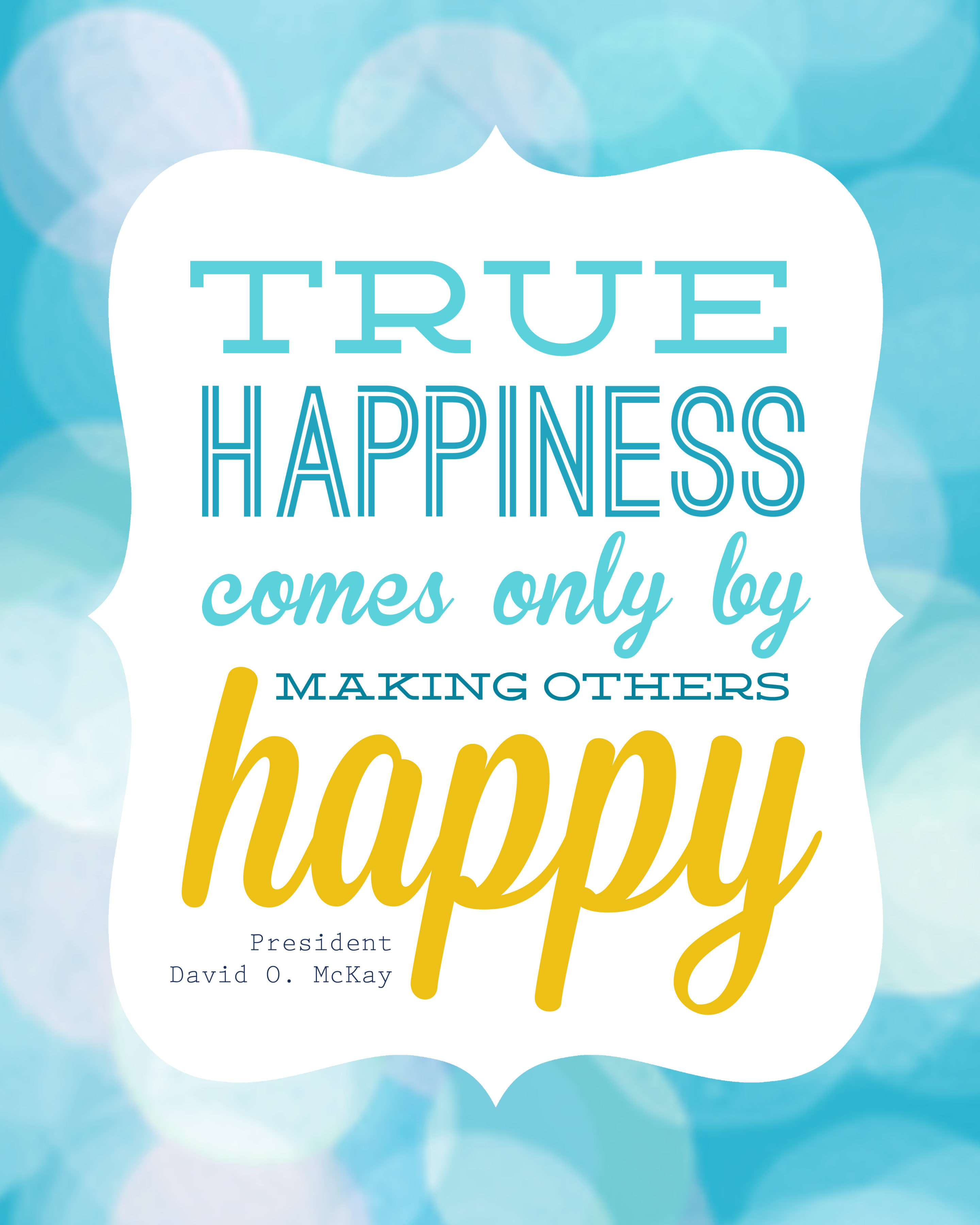 Happiness Quote: LDS Daily Dose - February 5, 2015