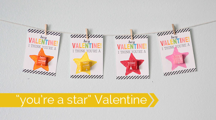 great DIY Valentine's day card your kids can help make!