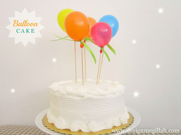 Birthday Cake Decorated With Balloons : 20 easy-to-decorate birthday cakes (that even I canot mess ...