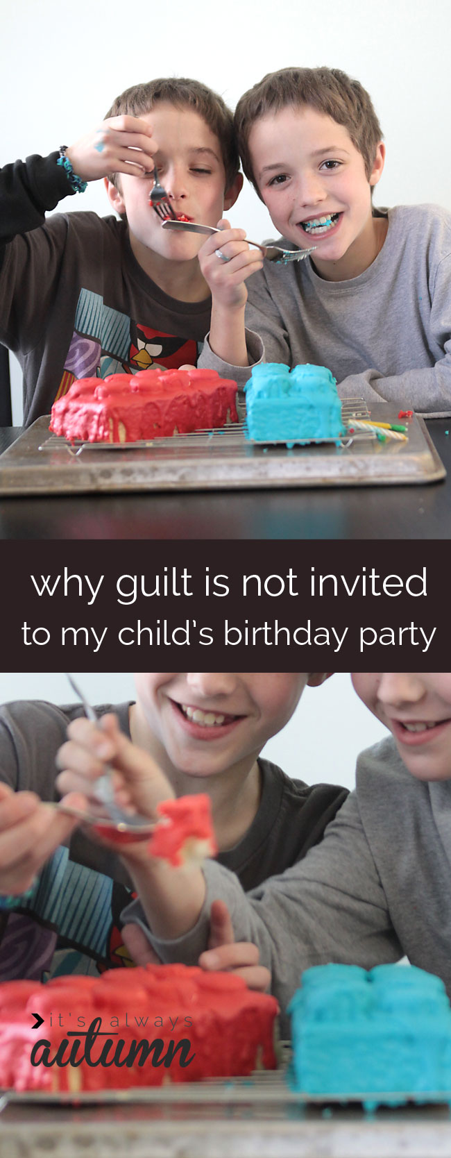 great post on why we don't need to feel guilty if we don't plan crazy amazing birthday parties and just have fun instead
