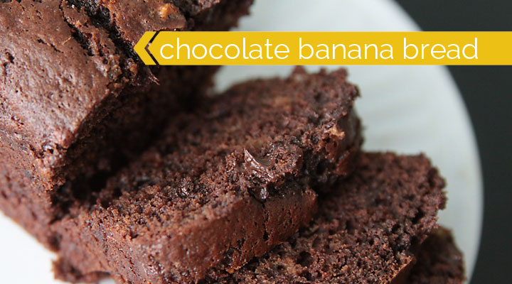decadent chocolate banana bread recipe - easy and perfect for giving!