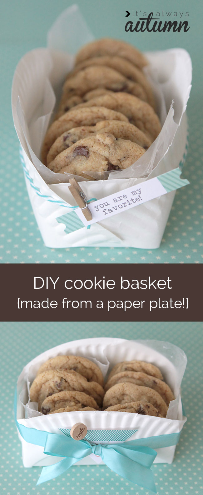 Easy Diy Cookie Basket Made From A Paper Plate It S