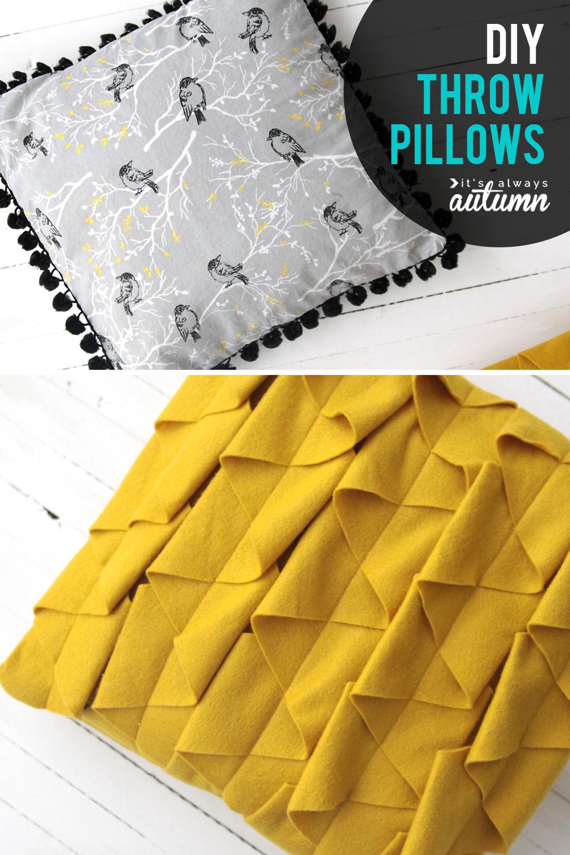 diy decorative throw pillows sewing tutorial it s always autumn