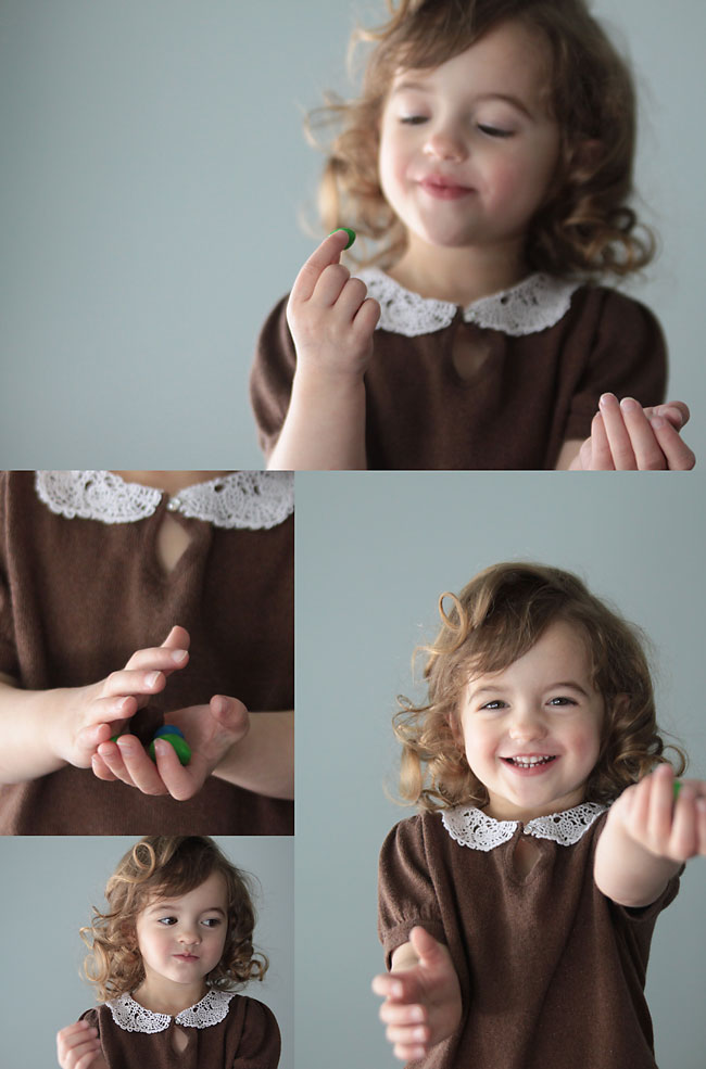 how to add a cute collar made from a doily to a girls sweater