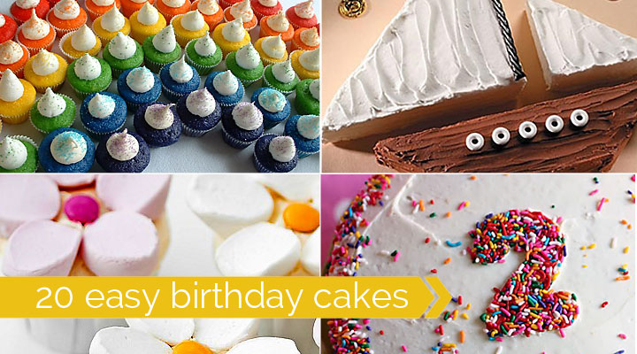 Cake Decorating Ideas Birthday Simple : 20 easy-to-decorate birthday cakes (that even I canot mess ...