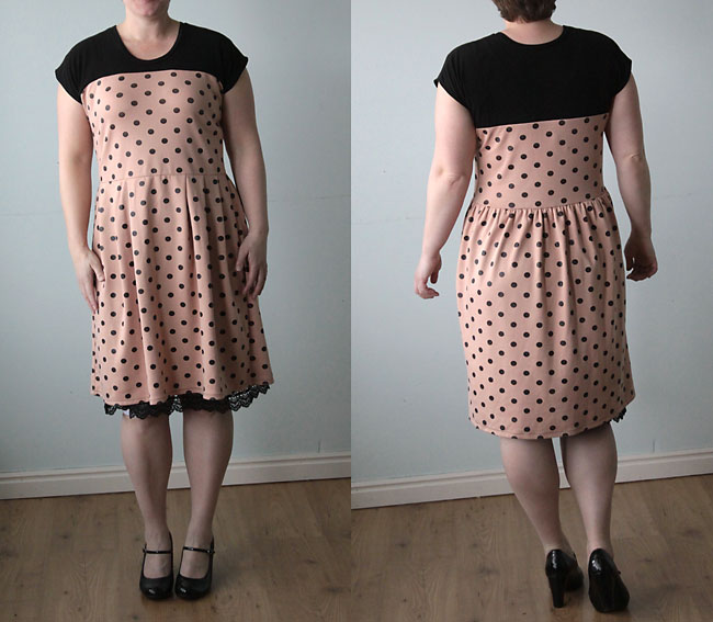 Lastly I hemmed the skirt, and the dress was finished! Here's a shot ...