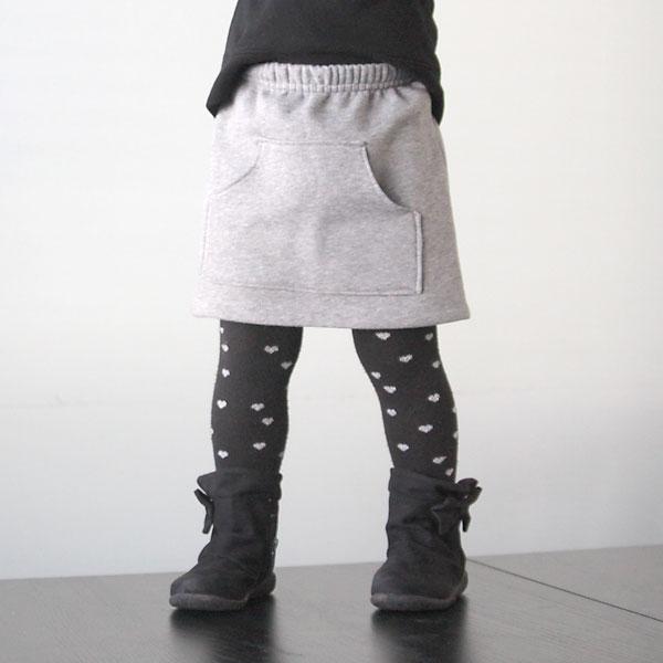 sweatpants to kangaroo pocket skirt refashion {sewing tutorial for girls}