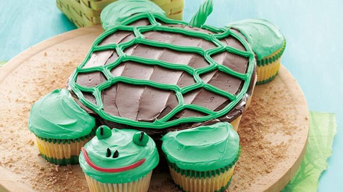 turtle-birthday-cake-cupcakes-easy