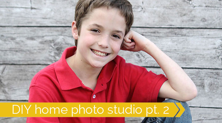 how to set up a DIY home photography studio for great photos of your kids at home