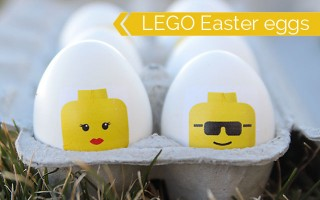 looking for a unique and easy alternative to dying eggs? Try this fun, easy technique for making LEGO mini fig Easter eggs