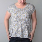 """the """"easy tee"""" with a gathered waist – women's sewing tutorial"""