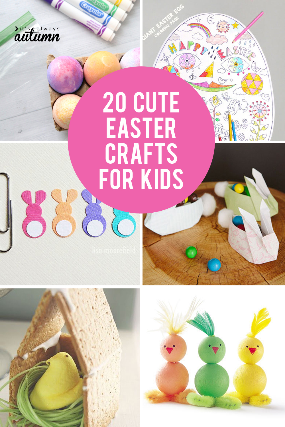 20 cute Easter crafts for kids! Easy Easter crafts and activities.