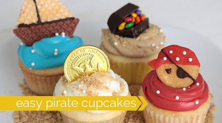 These Adorable Pirate Cupcakes Are Easy To Decorate And The Best Part Is They Use