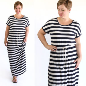 How to sew a maxi dress without a pattern – the easy way!
