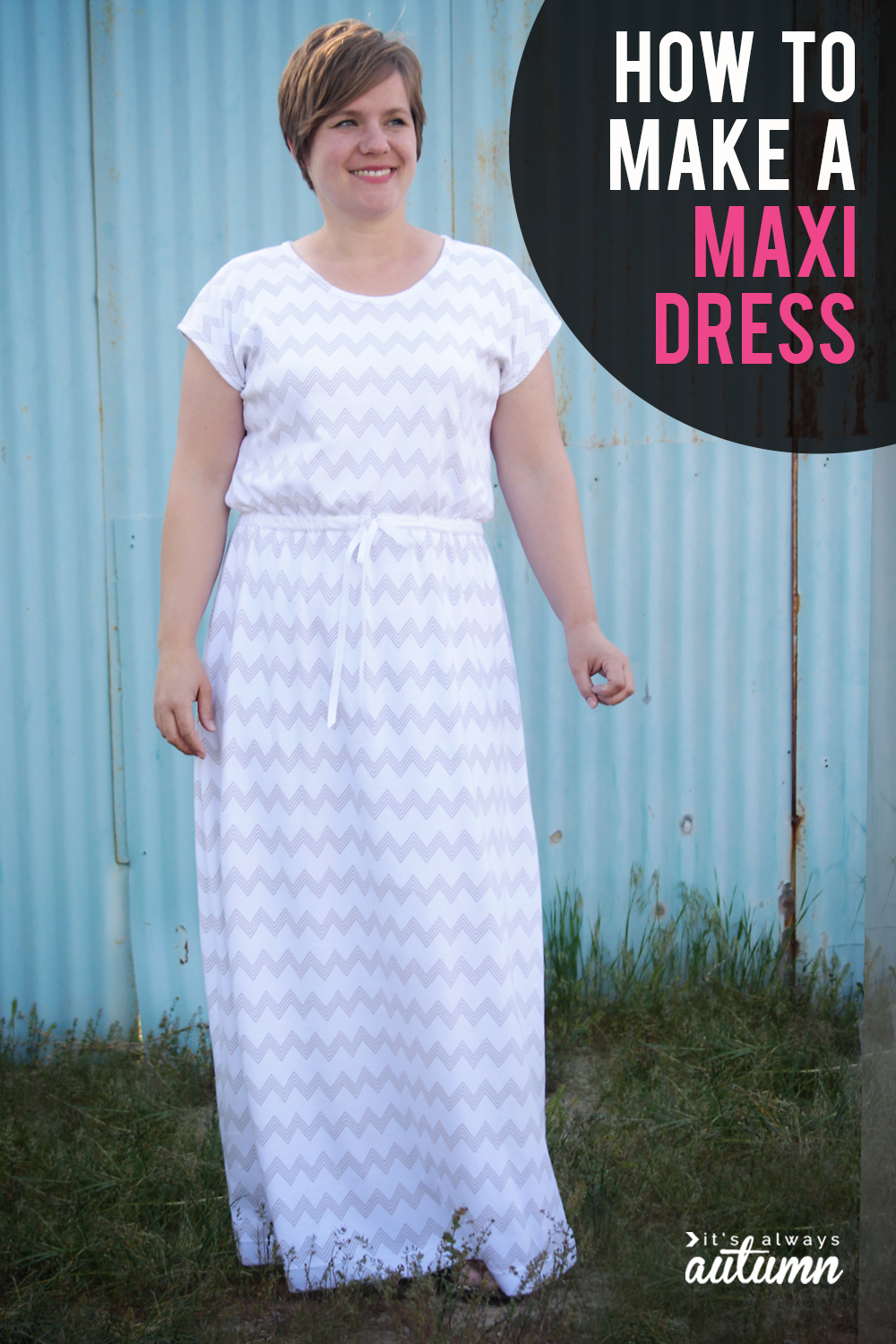 how to sew a maxi dress | easy instructions to make a maxi dress