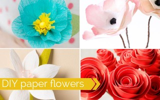 amazing collection of DIY paper flower tutorials - these look so real! perfect for weddings, parties, or just home decor.