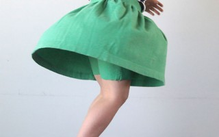 gathered skirt with attached shorts | easy sewing tutorial