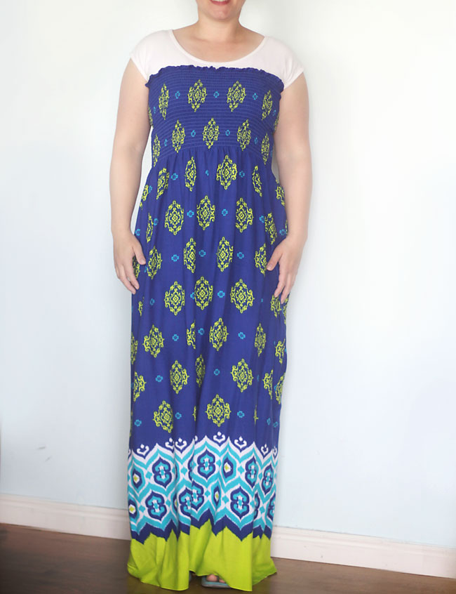 0b1c4eaf296 you can make this gorgeous maxi dress by sewing just one seam! click  through for