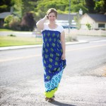 easy DIY maxi dress with just one seam! | sewing tutorial