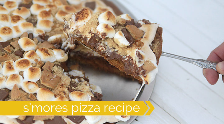 S Mores Pizza Recipe With Graham Cracker Cookie Crust