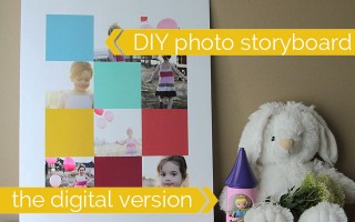 how to create a storyboard template in photoshop elements for a photo display