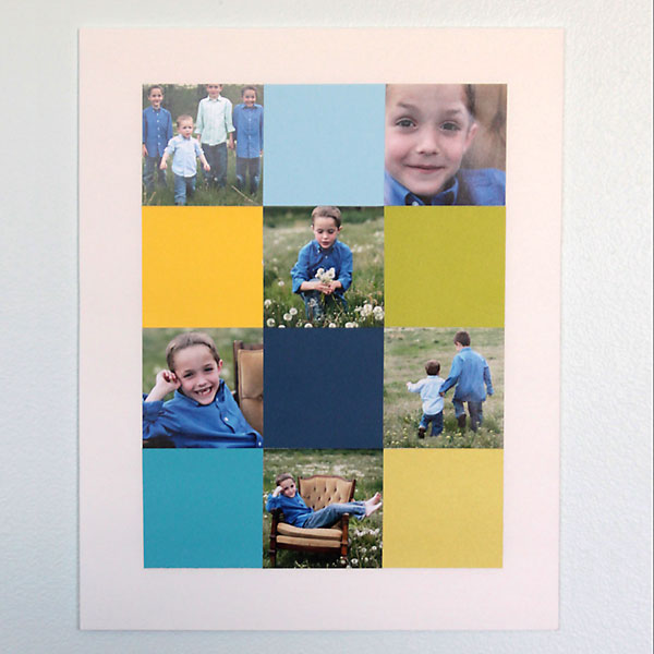 easy way to make a DIY storyboard photo display mounted on cheap foam core board