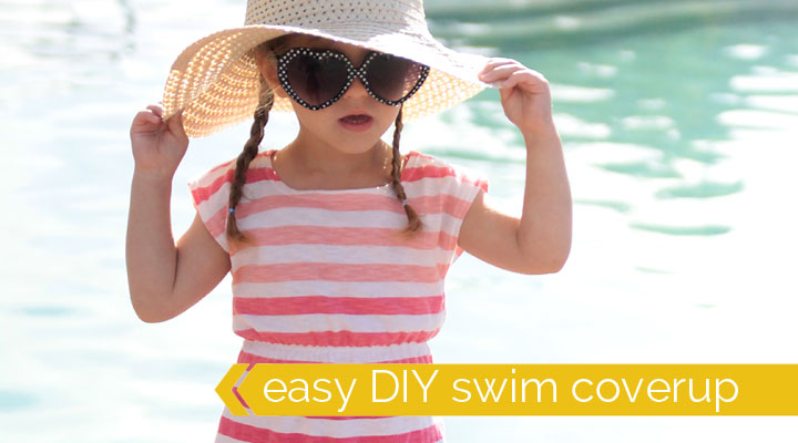 such a cute and easy DIY swim coverup for little girls!