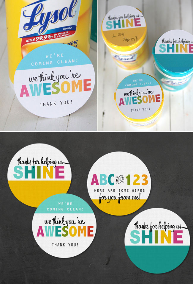 picture regarding Free Printable Teacher Appreciation Gift Tags known as 60 Instructor Appreciation Present Strategies Printables