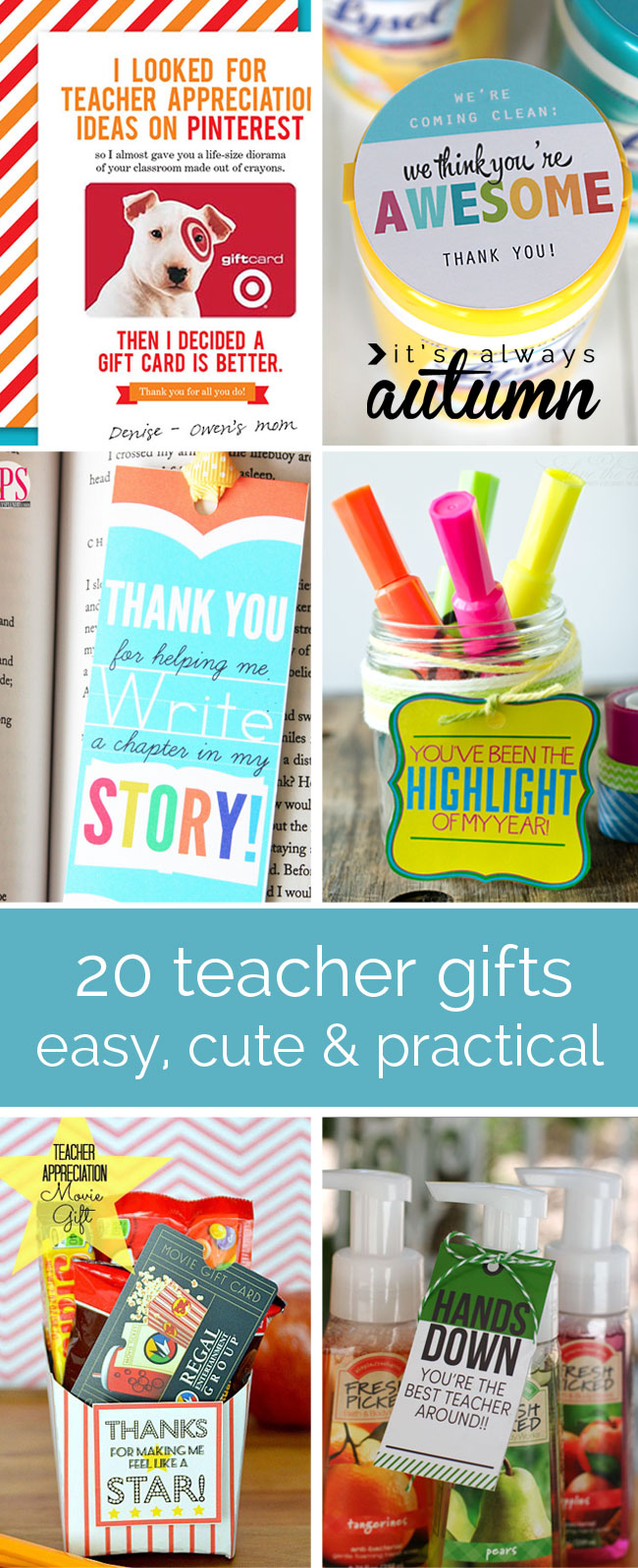 20 cheap easy cute practical teacher appreciation Gifts to show appreciation to friend