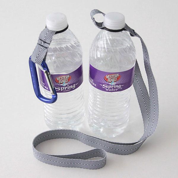 easy DIY O-ring water bottle holder